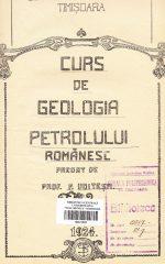Curs de Geologia Petrolului Românesc